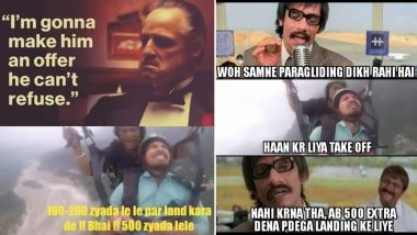 Paragliding Memes of 'Land Kara De Bhai' Viral Video Are Too Funny to Be Missed, Check Funniest Tweets and Jokes