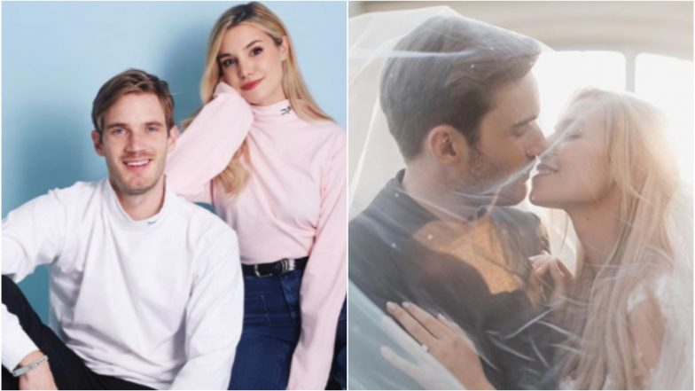 PewDiePie marries Marzia-and shares photos of YouTube's royal wedding