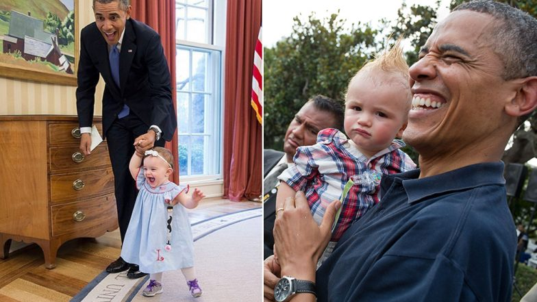 Barack Obama Turns 58: These Pictures of Former US President Chilling With Babies Are Coolest Ever!