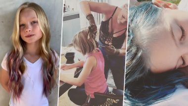 Pink Colours Daughter's Hair Blue in Support of Jessica Simpson Who Got Bullied by Mommy Shamers Online for Doing the Same