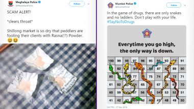 Meghalaya Police's Witty Tweet on 'Rasna' as Drugs Impresses Netizens, Other Times Police Departments Creatively Trolled Drug Peddlers