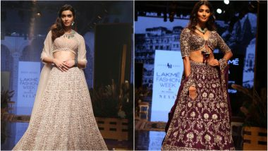 LFW Winter/Festive 2019: Diana Penty and Pooja Hegde Look Enchanting in Embellished Lehengas as Showstoppers at Lakme Fashion Week