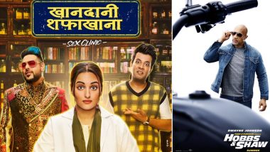 Box Office Report: Sonakshi Sinha Starrer Khandaani Shafakhana Off to a Disastrous Start, Hollywood Action Flick Hobbs & Shaw Witnesses Good Occupancy