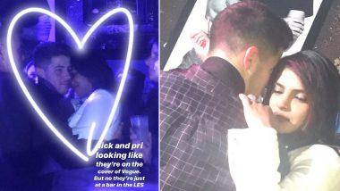 Priyanka Chopra and Nick Jonas Indulge In PDA at a Bar (View Pics)