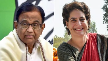 P Chidambaram Faces Arrest: Priyanka Gandhi Comes Out in Support of Former FM, Says 'He is Hunted Down For Exposing Government's Failures'