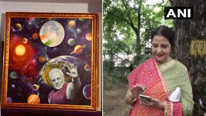 Raksha Bandhan 2019: Qamar Mohsin Shaikh, Pakistan-Origin Woman, Ties Rakhi to PM Narendra Modi, Gifts Him Painting Made by Her Husband