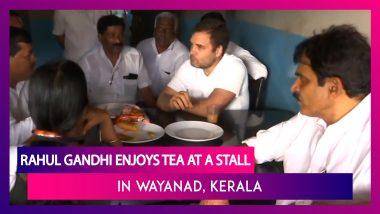 Rahul Gandhi Enjoys Tea At A Stall In Wayanad, Meets Flood-Affected People