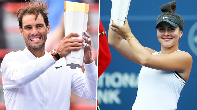 Rafael Nadal and Bianca Andreescu Crowned Champions in Men's Singles and Women's Singles at Rogers Cup 2019