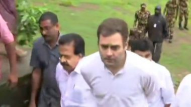 Kerala Floods: Rahul Gandhi Writes Letter to Union Ministers, Seeks Help For Rehabilitation Work  in Wayanad