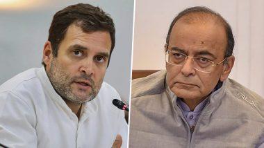 Arun Jaitley Dies: Rahul Gandhi Condoles Former Finance Minister's Demise