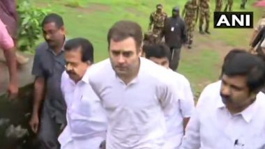 Kerala Floods: Rahul Gandhi Arrives in Wayanad, Meets People at Relief Camp in His Lok Sabha Constituency