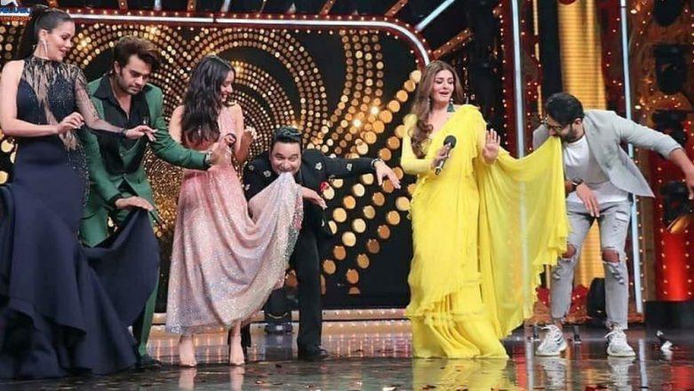 Nach Baliye 9: Prabhas Pulls Off a Salman Khan as He Dances With Raveena Tandon on Jumme Ki Raat (View Pics)