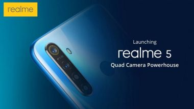 Realme 5, Realme 5 Pro Smartphones To Be Launched in India Tomorrow; Expected Price, Features, & Specifications