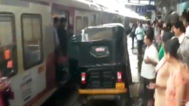 Mumbai Rickshaw Driver Takes Vehicle on Platform to Help Woman in Labour Pain, Video Goes Viral