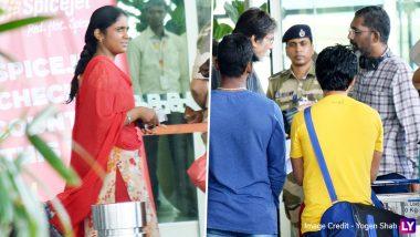 Amitabh Bachchan, Nagraj Manjule Shoot For 'Jhund' at Mumbai Airport (View Pics)