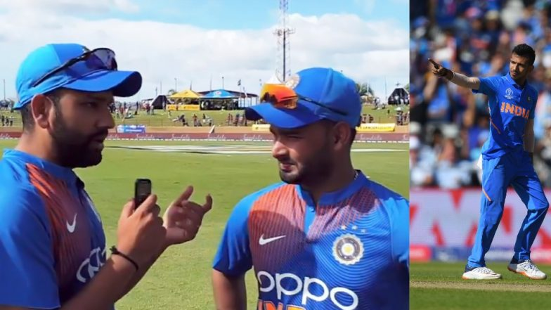 Yuzvendra Chahal Makes a Cheeky Remark on Rohit Sharma-Rishabh Pant Interview Shared by BCCI on India vs West Indies Tour