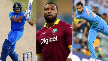 India vs West Indies 3rd T20I 2019: Rohit Sharma, Krunal Pandya, Kieron Pollard and Other Players to Watch Out for at Guyana