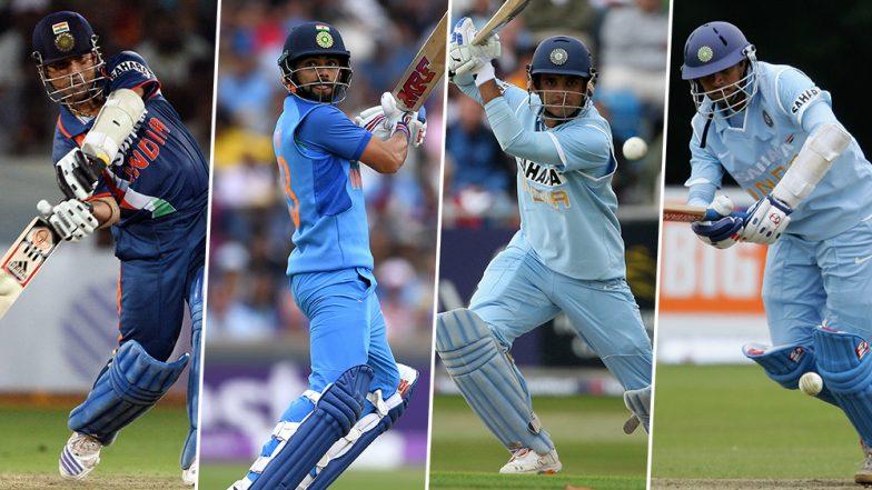 Most Runs in ODIs List: Virat Kohli Overtakes Sourav Ganguly to Become India's Second-Highest Run-Scorer; Sachin Tendulkar Remains on the Leaderboard