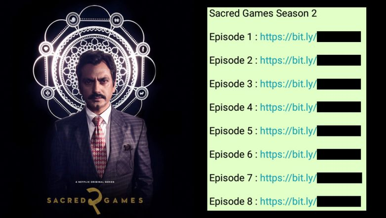 Sacred Games 2 Leaked on WhatsApp! Pirated Bit.ly Links of Eight Episodes to Watch & Free Download Online Go Viral