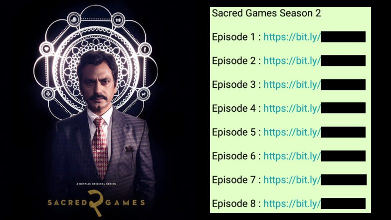 Sacred Games 2 Leaked on WhatsApp! Pirated Bit ly Links of