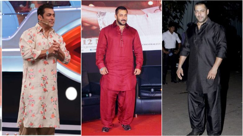 Eid al-Adha 2019: Salman Khan's Classic Plain Pathanis to Floral Kurtis Here's How You Can Emulate His Style This Festive Season