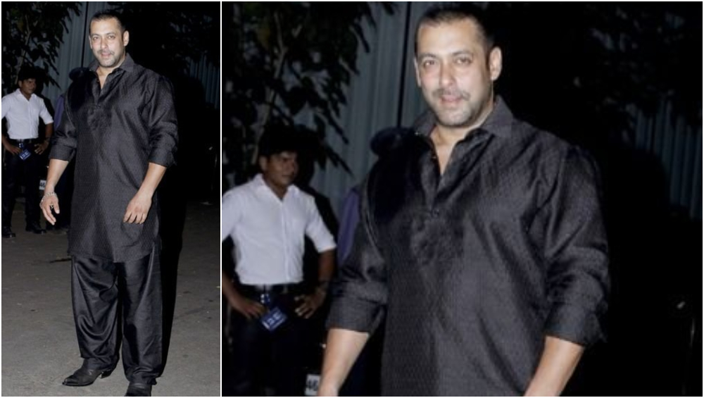 Salman Khan in a Black Pathani.