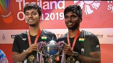 Satwiksairaj Rankireddy and Chirag Shetty Become First Indian Doubles Pair to Win Super 500 Title, Beat Li Jun Hui and Liu Yu Chen in Thailand Open 2019 Final