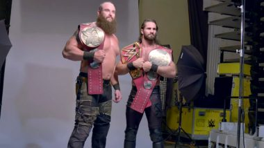 Seth Rollins and Braun Strowman Pose For Amazing Photo Shoot as WWE Raw Tag Team Champions After Defeating Luke Galloth and Karl Anderson (Watch Videos)