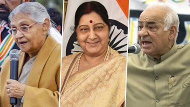 Sushma Swaraj, Sheila Dikshit, Madan Lal Khurana: Delhi Loses Three Former CMs in Less Than a Year