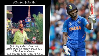 Shikhar Dhawan Turns Shayar with Throwback Photo From Las Vegas; Yuzvendra Chahal, Khaleel Ahmed Cheer Him With Funny Comments (See Post)