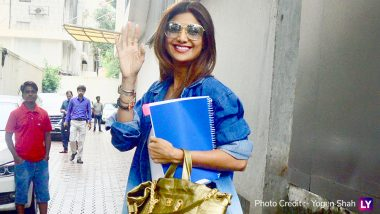 Yo Or Hell No! Shilpa Shetty In Ombre Denim Jacket and Yellow Shoes