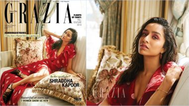 Shraddha Kapoor Looks So Chic in Gauri & Nainika's Red Polka Dot Dress on Cover of Grazia India's August 2019 Issue