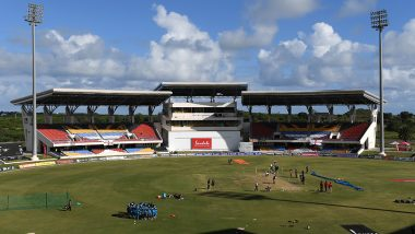 India vs West Indies 2019 1st Test, Day 2 Rain Forecast & Weather Report From Antigua: Rain Delays Start; Check Weather Forecast and Pitch Report of Sir Vivian Richards Stadium