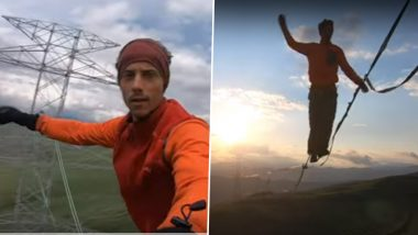 German Slackliner Walking Mid-Air Amid Strong Wind Goes Viral! 3 Other Times When Daredevils Gave Us the Chills (Watch Videos)