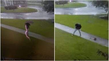 Umbrella Saves South Carolina Man From Deadly Bolt Of Lightning, Terrifying Video Goes Viral