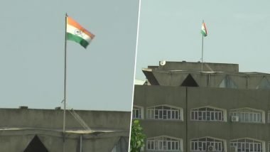 Jammu and Kashmir State Flag Removed From Civil Secretariat Building, Only Tricolour Seen