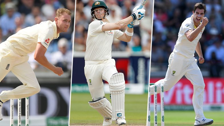 Ashes 2019 First Test Stats: Steve Smith Surpasses Virat Kohli, Stuart Broad Takes 450 Wickets & Other Records Made in Edgbaston Test