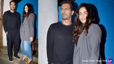 Arjun Rampal and Gabriella Demetriades Make a Stylish Appearance at Emmay Entertainment Celebrations (View Pics)
