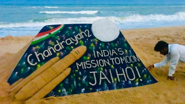 Chandrayaan 2 Enters Moon's Orbit, Sudarsan Pattnaik Congratulates ISRO  With a Sand Art (See Picture)