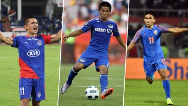 Sunil Chhetri Birthday: From Overtaking Lionel Messi to Beating Bhaichung Bhutia's Record of Most League Goals; a Look at Some of the Records Held by 'Captain Fantastic'