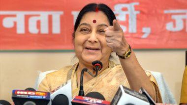 Sushma Swaraj Dies at 67: Karnataka CM BS Yediyurappa, Ex-CM HD Kumaraswamy Condole Death of BJP Veteran