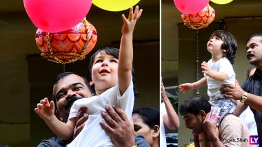 Taimur Ali Khan and Inaaya Naumi Kemmu Spotted Celebrating Dahi Handi! (View Pics)