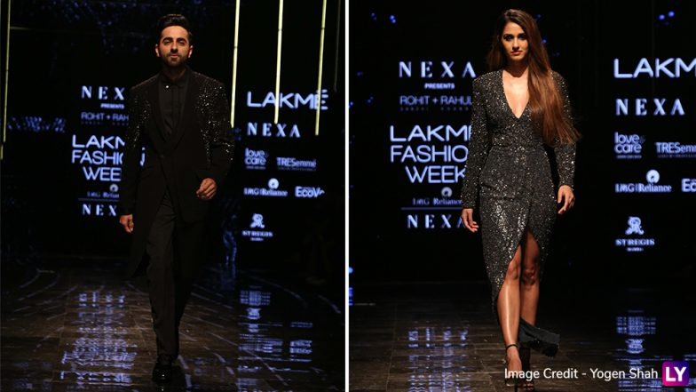 LFW Winter/Festive 2019: Disha Patani and Ayushmann Khurrana Turn Showstoppers for Rohit Gandhi and Rahul Khanna (See Pics)