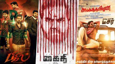 Thalapathy Vijay's Bigil, Karthi's Kaithi and Vijay Sethupathi's Sanga Thamizhan - Tamil Movies to Clash in Diwali 2019!
