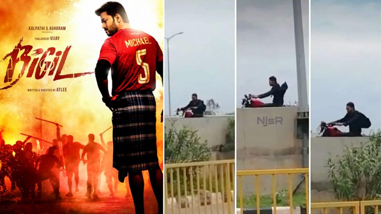 These Pics of Thalapathy Vijay Riding a Harley-Davidson Motorcycle from the Sets of Bigil Go Viral