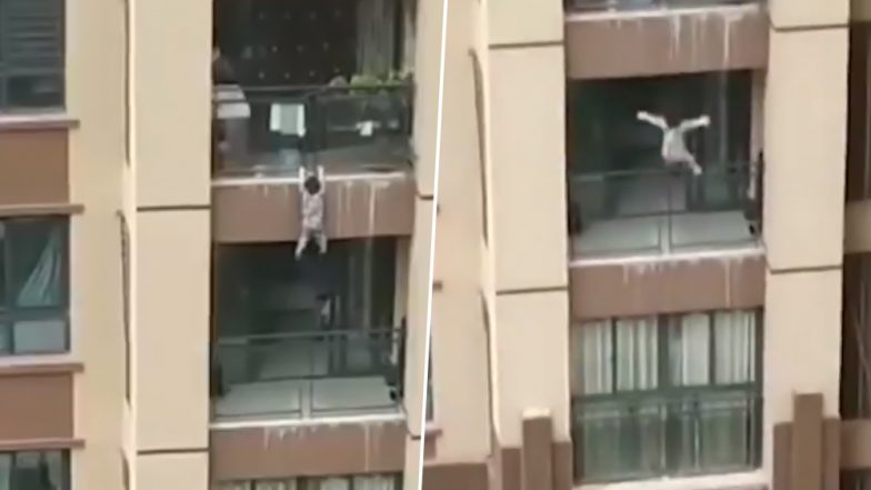 Miraculous Video: Three-Year-Old Survives Fall From Six-Storey Building Balcony in China