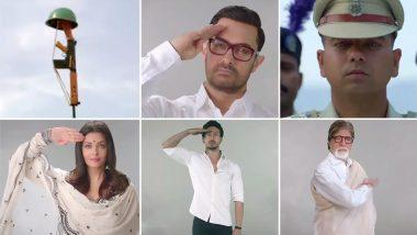 Tu Desh Mera Song Teaser Video: Amitabh Bachchan, Shah Rukh Khan, Aishwarya Rai Amongst Other Bollywood Stars Feature in Patriotic Track Dedicated to Pulwama Attack Martyrs