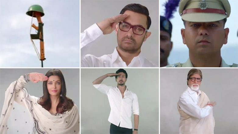 Tu Desh Mera Song Teaser Video: Amitabh Bachchan, Shah Rukh Khan, Aishwarya Rai Amongst Other Bollywood Stars Feature in Patriotic Track Dedicated to Pulwama Attack Martyrs