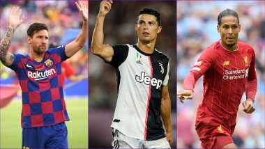 UEFA Men's Player of the Year Award 2019: Lionel Messi, Cristiano Ronaldo and Virgil van Dijk Nominated for the Prestigious Award