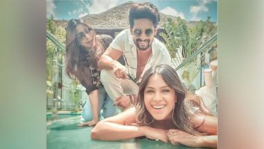 Jamai Raja 2.0: Ravi Dubey Shares Pic With Co-Star Nia Sharma as They Frolic on the Sets at Picturesque Pondicherry
